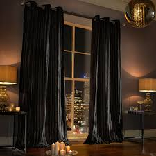 Black Curtain Kylie Minogue Iliana Lined Curtain Range In Black House Of Fraser