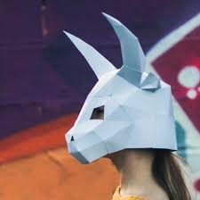 ox mask papercraft masks paperpetshop papercraft templates
