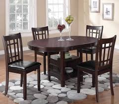 furniture conan oval dining table with aksen stone shag area rug