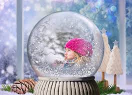 Photos Of Snow Snow Globe Photo Effect Personalized Christmas Photo Card