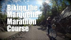 biking the marquette marathon course marquette mi youtube