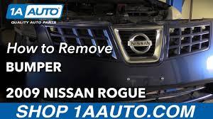 nissan rogue rear bumper protector how to remove reinstall bumper fascia 2009 nissan rogue youtube
