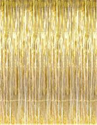 Gold Metallic Curtains Metallic Gold Foil Fringe Curtain 3 Ft X 8 Ft Foil