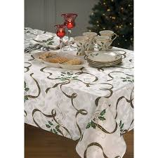 Oblong Table Cloth Amazon Com Lenox Holiday Nouveau Ribbon Oblong Rectangle