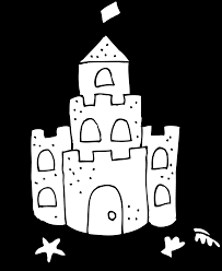 cute sand castle coloring page free clip art
