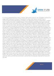 srrk it ltd letterhead design