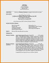 Pharmacist Technician Resume 7 Tech Resume Format Mbta Online