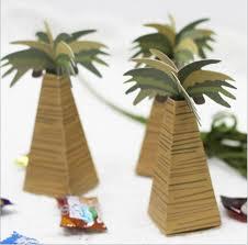 design coconut tree box wedding favor box high quality
