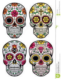 Day Of The Dead White Day Of The Dead Skull Vector Set Stock Images Image 34870664
