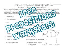 squarehead snowman prepositions practice 2 squarehead teachers