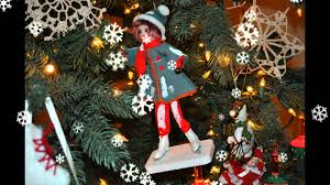 tree decorated with skating ornaments