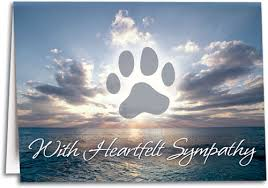 sympathy for loss of dog note sized sympathy folding cards smartpractice veterinary