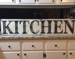 rustic kitchen sign etsy