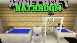 Minecraft Modern Bathroom Minecraft Bathroom Toilet Shower Bathtub Sink More Mod Showcase
