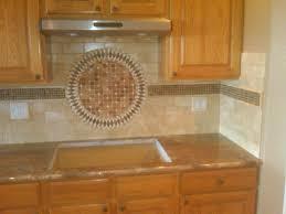 exellent kitchen backsplash medallions behind stove medallion