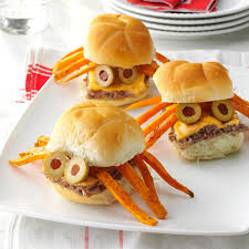 spider sliders recipe taste of home