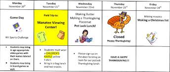thanksgiving calendar a childrens kastle