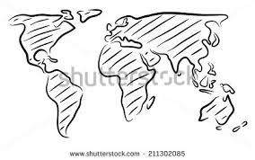 sketch world map vectors download free vector art stock