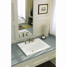 kohler k 2337 8 0 memoirs white drop in single bowl bathroom