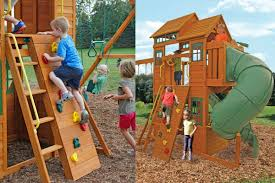 outdoor u0026 garden design cedar summit playset made of wood in