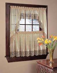 bali lace 5 piece kitchen curtain tier set curtainworks com