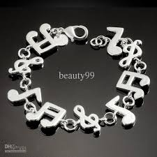 silver plated charm bracelet images Lovely charm bracelet music note silver plated rings fashion jpg