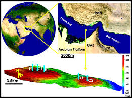 Map Of Persian Gulf Diagnosis Of The Upper Cretaceous Palaeokarst And Turbidite