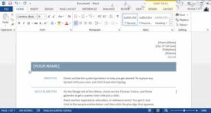 word 2013 resume templates to create a professional resume for free with word 2013