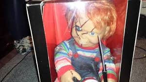spencers and spirit halloween new talking animated chucky doll youtube