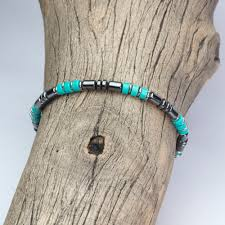 natural turquoise stone beautiful bracelet man woman beads 4 mm stone natural genuine