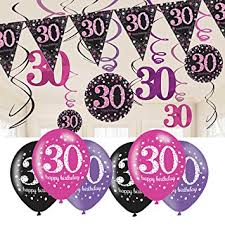 30th birthday decorations 30th birthday decorations pink 30th birthday bunting balloons