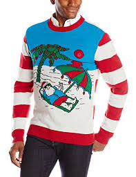 santa at the beach light up ugly christmas sweater ugly sweaters com