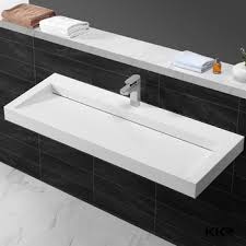 Kkr Solid Surface Integrated Bathroom Sink And Countertop Buy