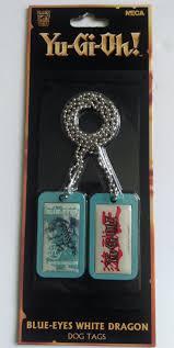 yu gi oh blue eyes white dragon dog tags neca ebay