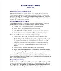 weekly progress report template project management weekly status report template 21 free word documents