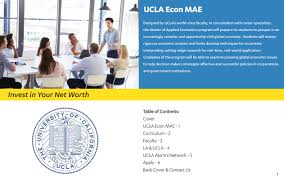 the program master of applied economics ucla