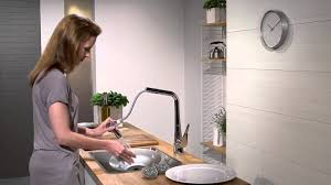Axor Citterio Kitchen Faucet Hansgrohe Metris Kitchen Mixer Pull Out Spray Youtube