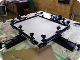 Stretching Table Print Shop How To Re Stretch Your Silkscreen Frame Spark Box Studio