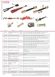 case ih catalogue rear linkage page 124 sparex parts lists