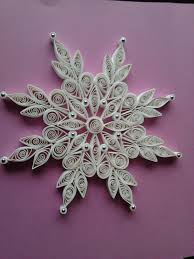 lace quilled snowflake ornaments quilling