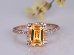 citrine engagement rings citrine engagement rings yellow citrine rings citrine diamond