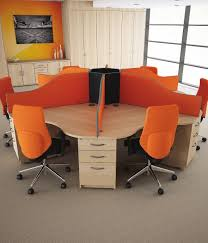 Desks And Office Furniture Circular Desks Circular Call Centre Desks Genesys Office Furniture