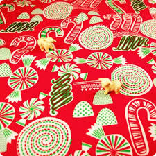 christmas pattern red green funky festival cotton materials fabric christmas shop my fabric
