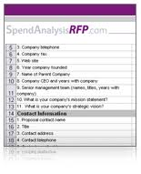 industy standard rfp templates rfx templates rfi templates