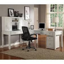 parker house boca l shaped desk with hutch cottage white hayneedle