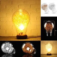 Filament Bulb Desk Lamp Vintage Industrial Diy E27 Bulb Glass Table Desk Lamp Cover Gold