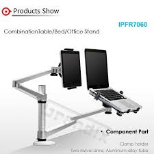 sale flexible portable folding aluminium dual monitor desk