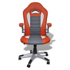 fauteuil de bureau design en similicuir moderne de bureau design orange