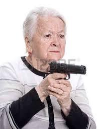 Granny Meme - put the gun down granny stock photography know your meme