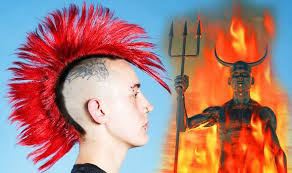 the hairstyle of the devil islamic police cl down on spiky hair claiming it s satanic